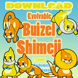 Evolvable Buizel Shimeji [D/L] [+shiny]