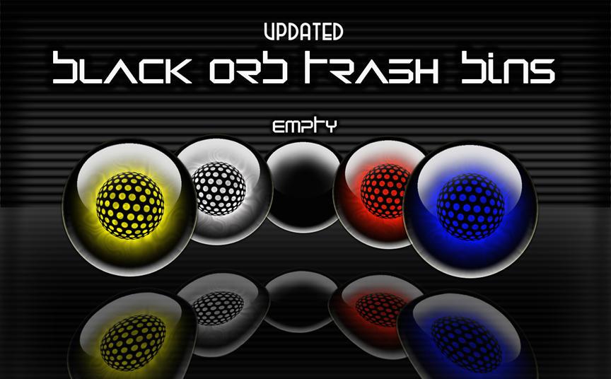 Black Orb Trash Bins - updated by victor1410