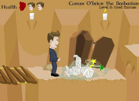 Conan O'brien the Barbarian (OLD / learning Flash)