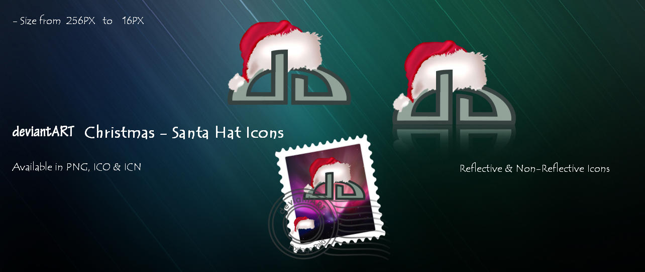 Christmas Santa Hat Icons by 878952