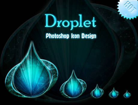 Photoshop Droplet Icon Design