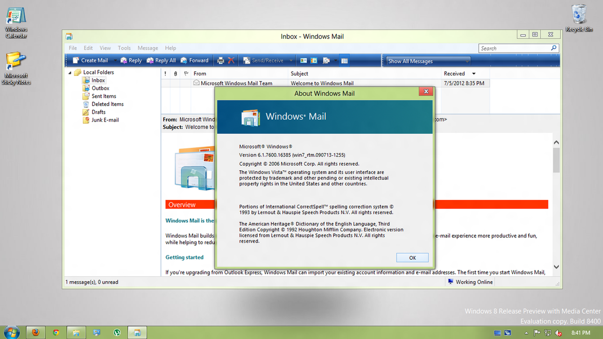 how to add email to windows 7