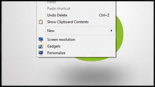Show Clipboard Contents in Context Menu