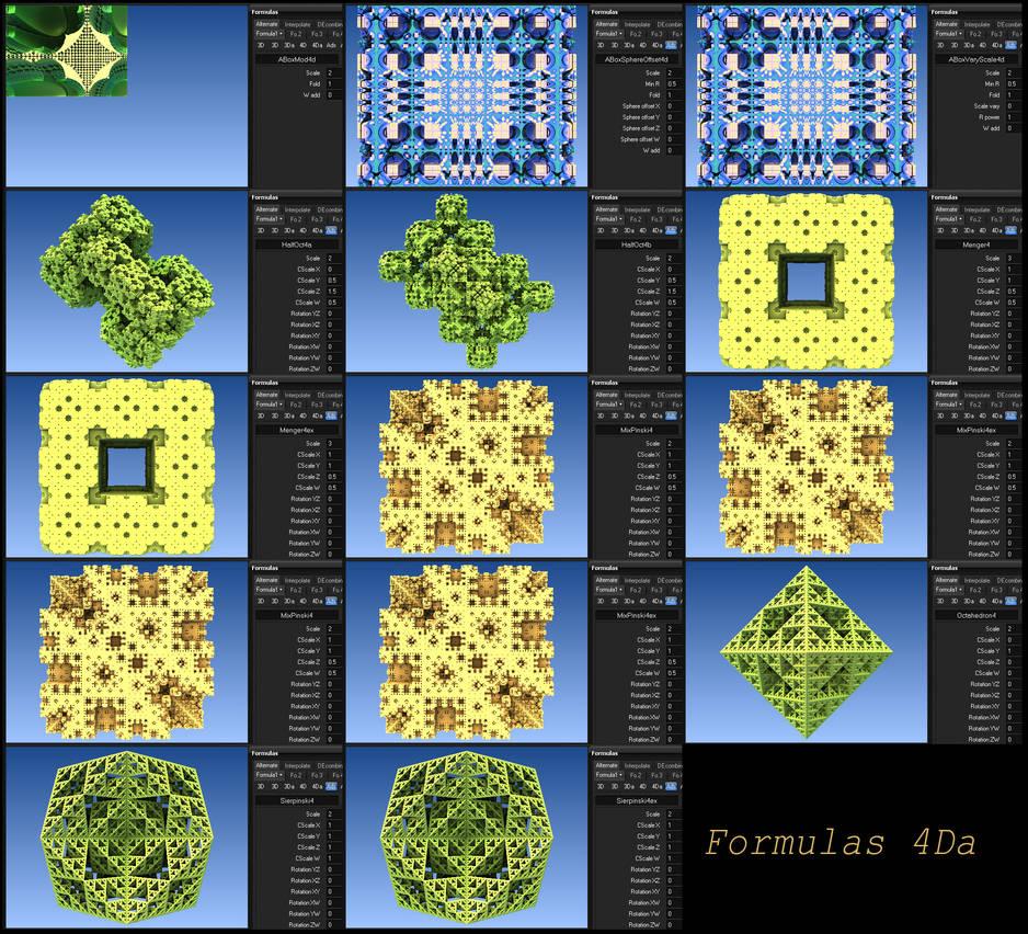 mandelbulb 3d formulas