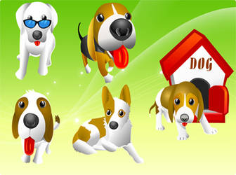 Free Vector Dogs by freevectordownload