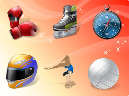 Sport Vector Icons by freevectordownload