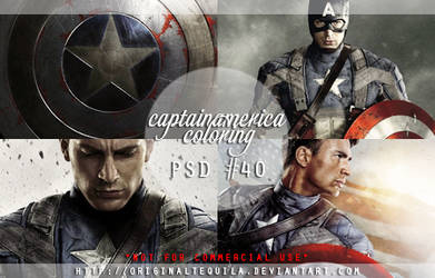 Captain America PSD Coloring by OriginalTequila