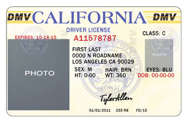 California Drivers License by TylerAllen86