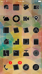 Black Minimalist iPhone Theme by TylerAllen86