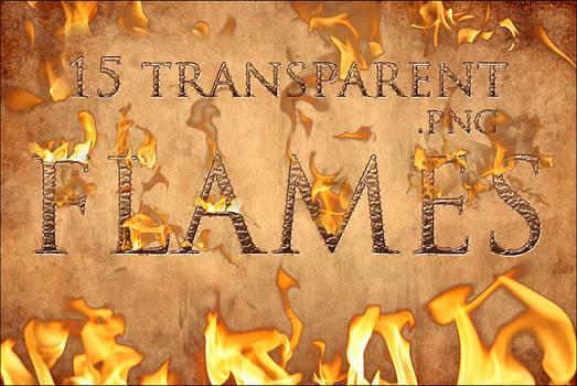 Transparent flame pack