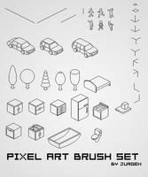 Pixel Art Brush Set by narvils