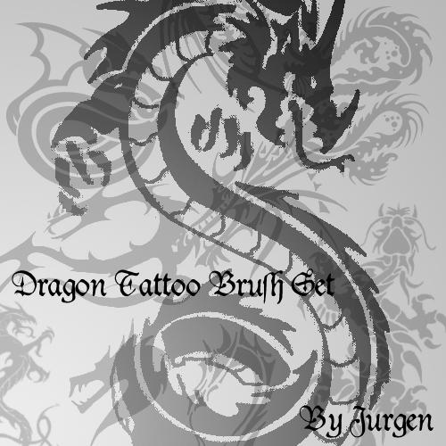 Dragon Tattoo Brush Set by narvils