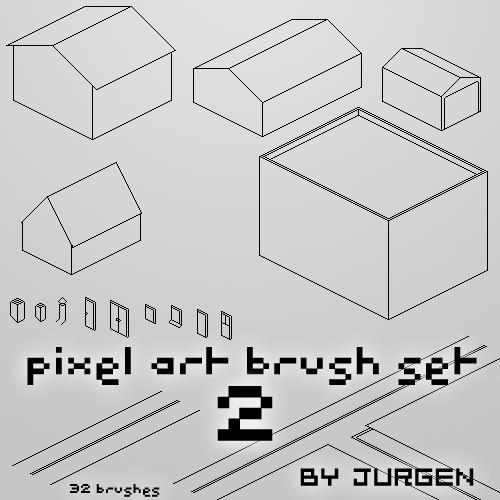 Pixel Art Brush Set 2