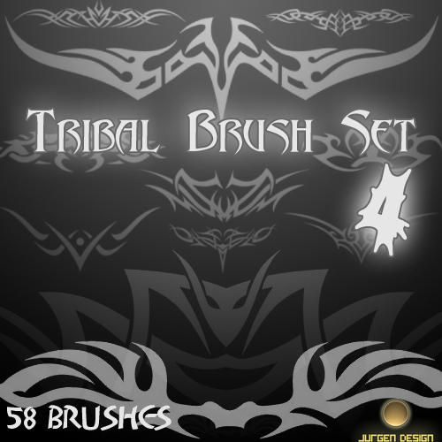 Tribal Brush Set 4