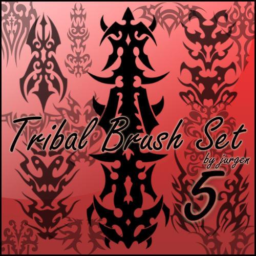 Tribal Brush Set 5 by narvils