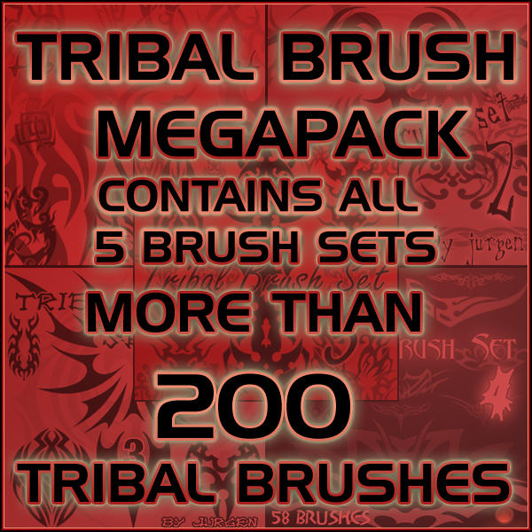 Tribal Brush Megapack Tribal_Brush_Megapack_by_narvils