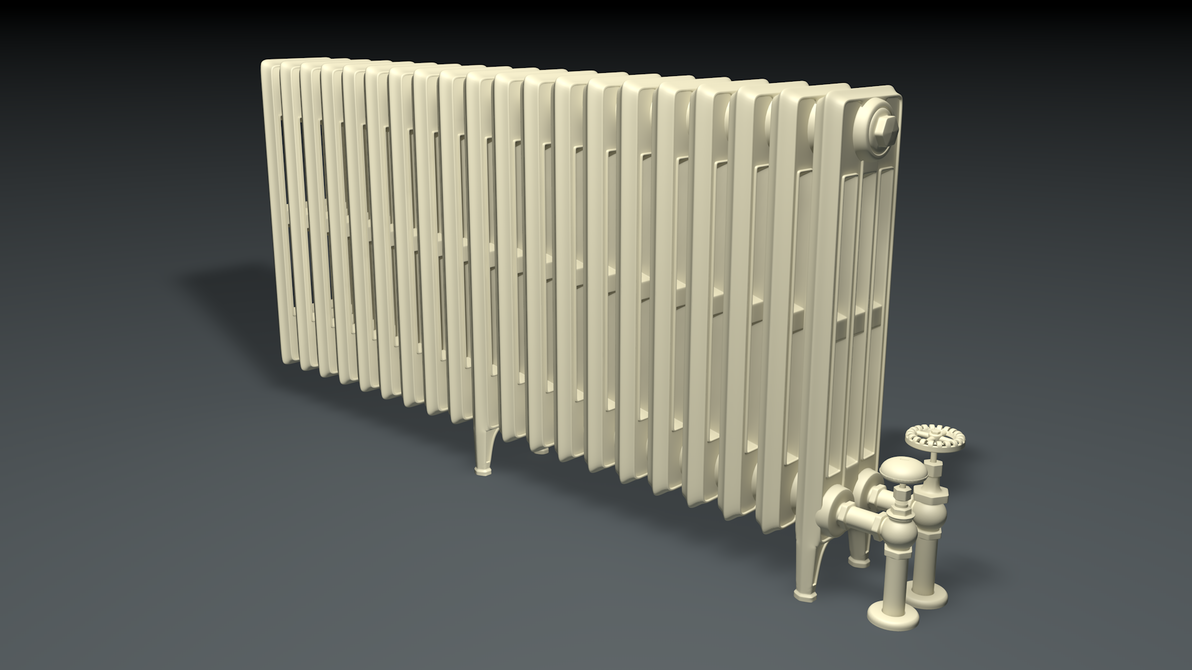 1930s Bedroom Radiator (C4D Model) by saltorio