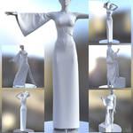 One Shoulder Dress Marvelous Designer (updated)