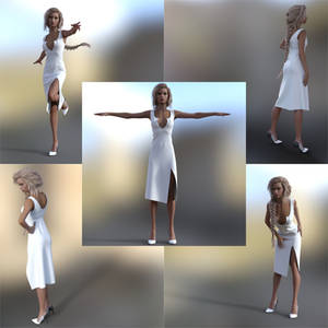Vision Dress Marvelous Designer (updated)