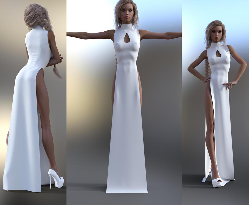 Slit Dress Marvelous Designer by soup-sammich