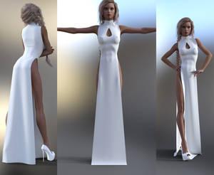 Slit Dress Marvelous Designer