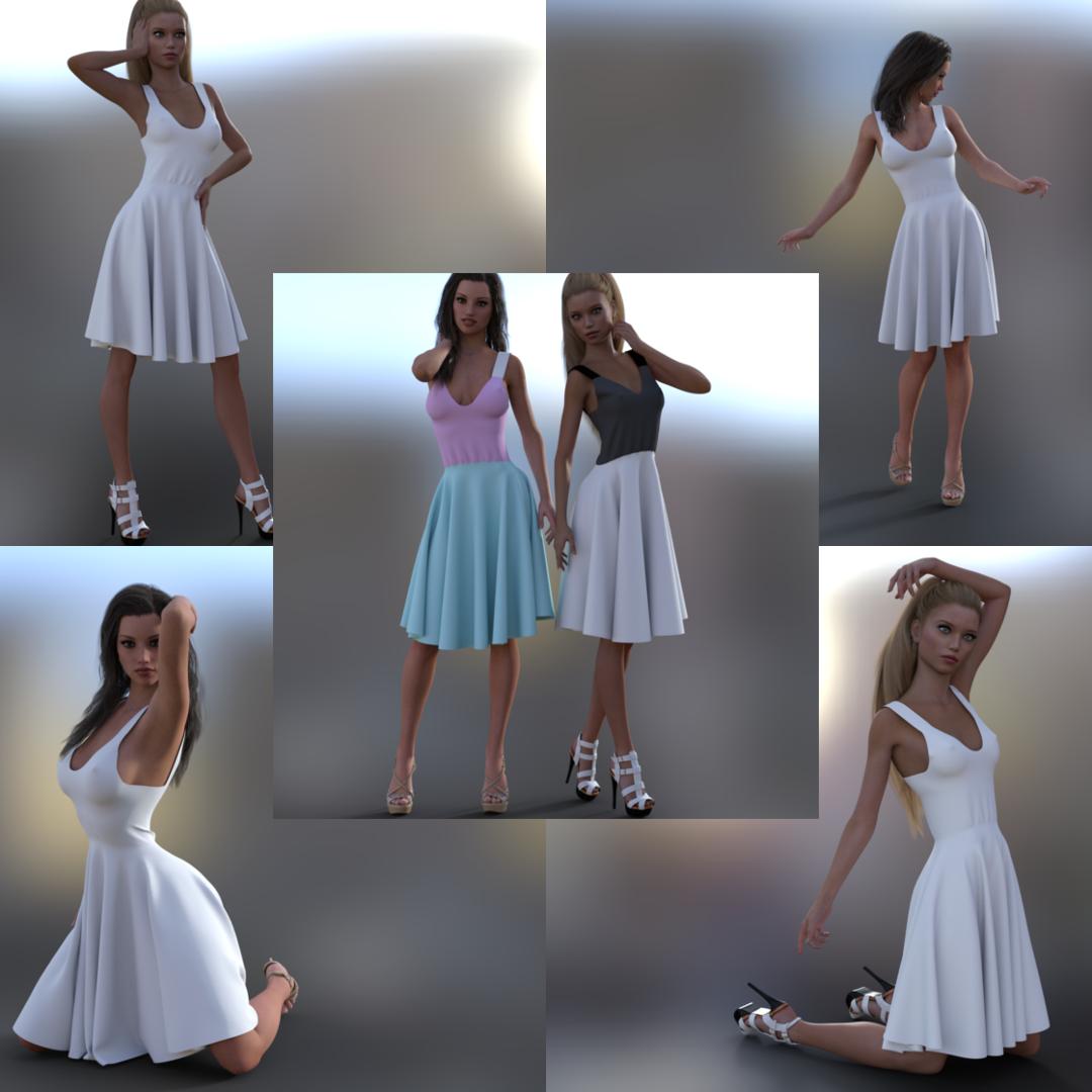 Lindsey Dress Marvelous Designer by soup-sammich