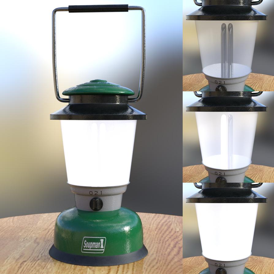 Camping Lantern (Free Prop for Daz Studio) by soup-sammich