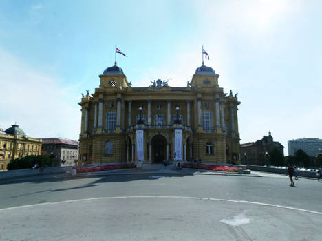 Croatian National Theatre in Zagreb - 360 Pano