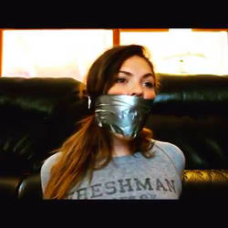 Tight Amateur Tape Wrap Gag by WrapGagLover