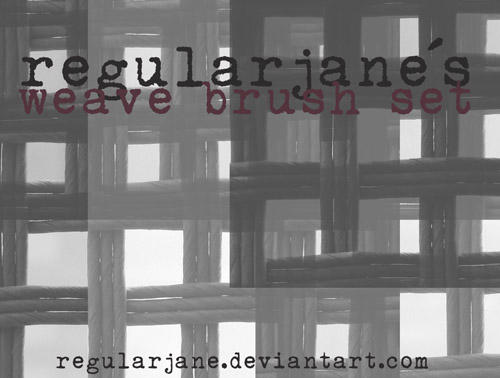 Brush Pack Basket Weave by regularjane