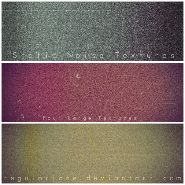 Static Noise Texture Pack by regularjane