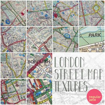 London Street Map Textures