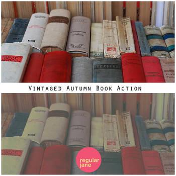 Vintaged Autumn Book Action