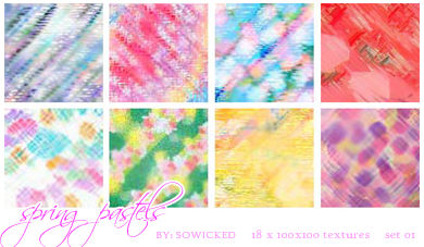 Sping Pastels TextureSet