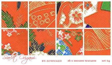 Scarlet Origami TextureSet