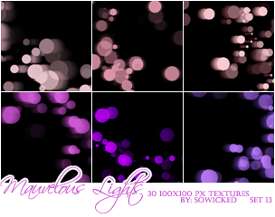 Mauvelous Lights TextureSet by SoWicked