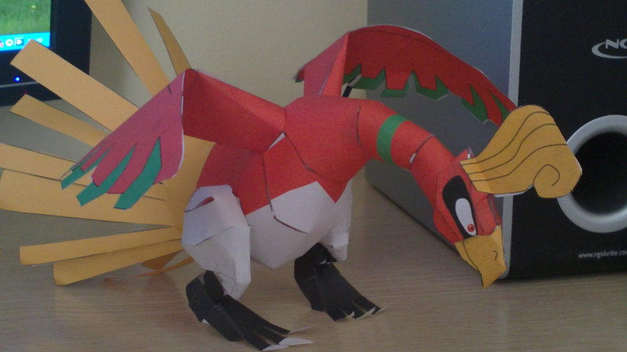 Ho-oh papercraft by E-419