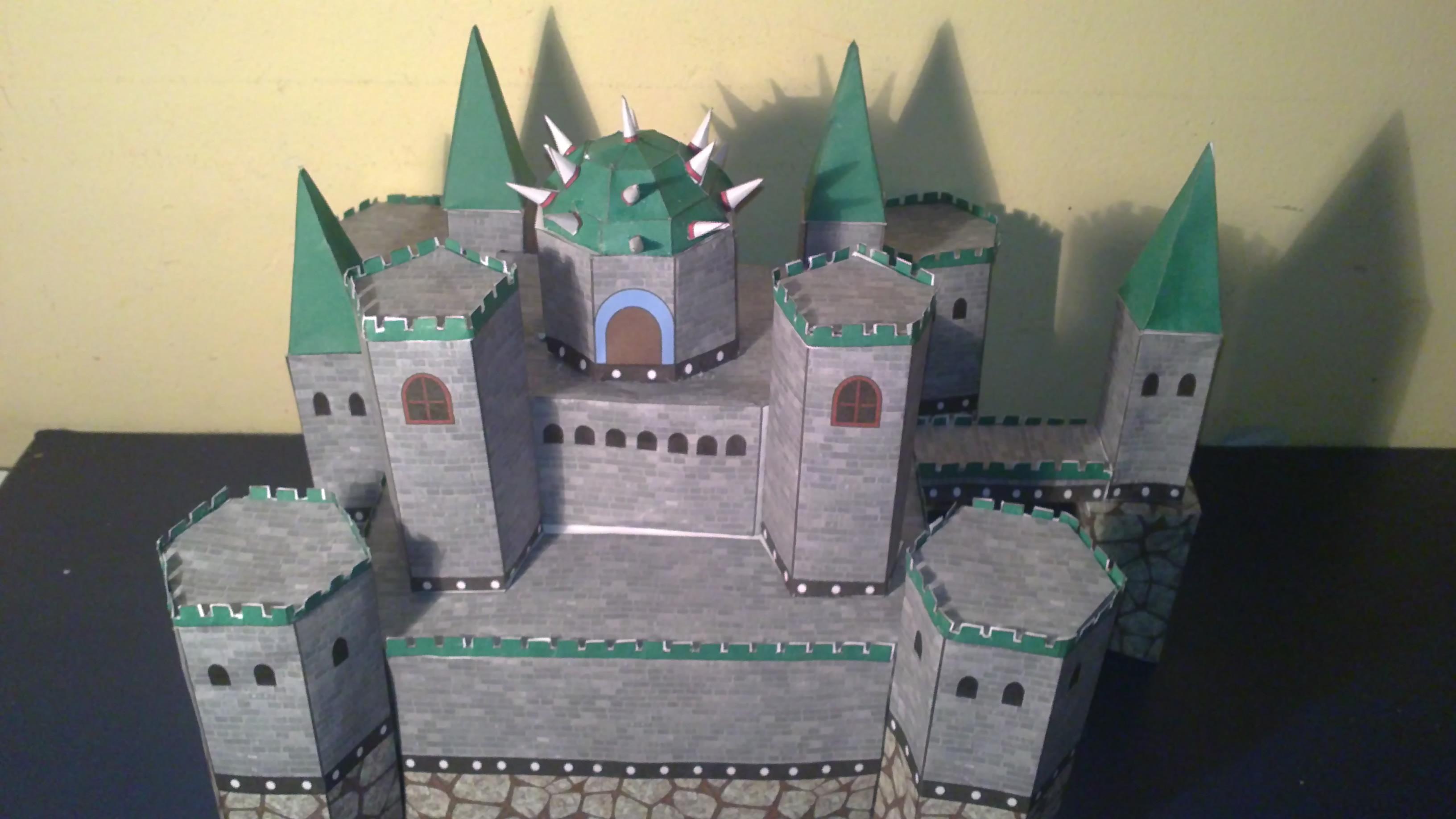 Bowser S Castle Papercraft By E 419 On Deviantart