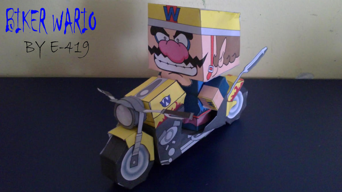 Biker Wario cubeecraft by E-419