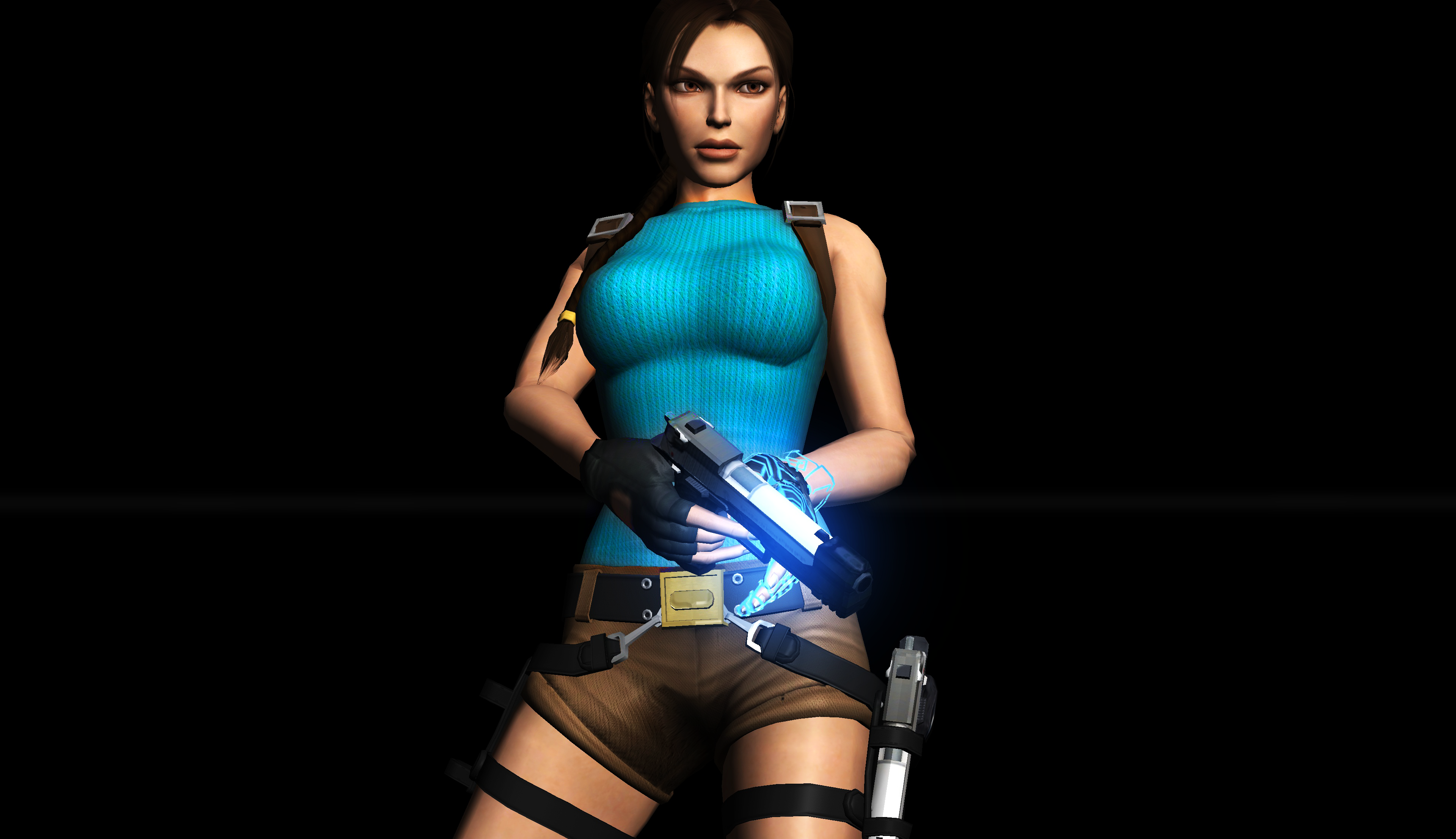 Lara Stand Pose with 1 Gun by Rockeeterl