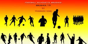 football silhouette brushes