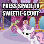 Press Space to SweetieScoot by sparklepeep