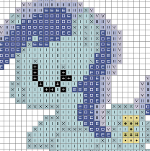 Sleeping Colgate Cross Stitch Chart by sparklepeep