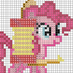 Pinkie's One Pony Band Cross Stitch Chart by sparklepeep