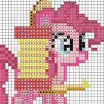 Pinkie's One Pony Band Cross Stitch Chart by sparklepeep