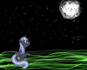 Lunar Pony Enjoying the Night Sky