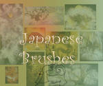 Japanese brushes textures