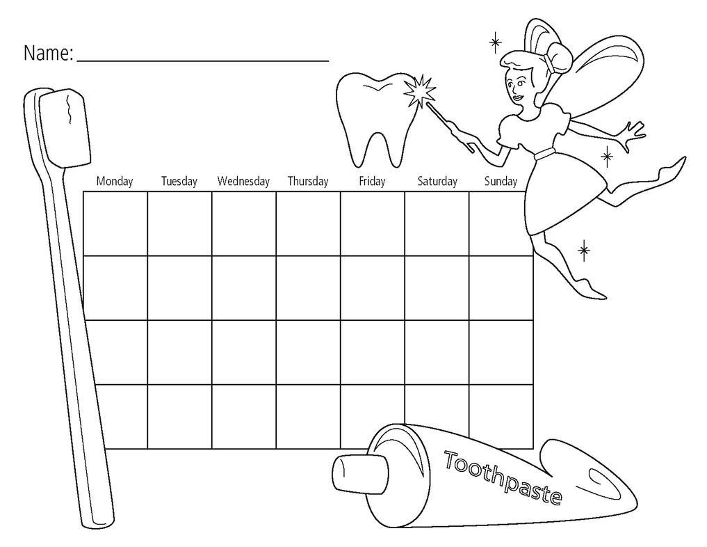 Image result for brushing calendar