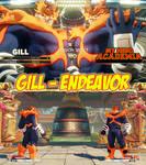 Gill [SFV]-Endeavor [My Hero Academia] Commission by babyjoe00069