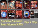 Naruto Animado theme K550i